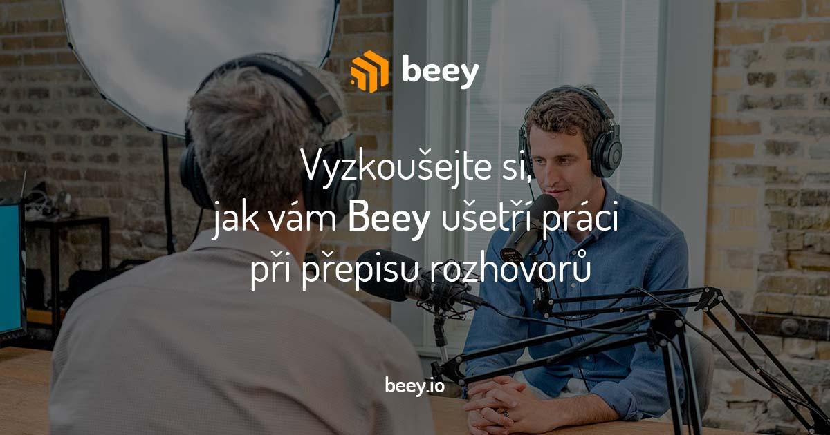 Vyzkoušejte si, jak vám Beey ušetří práci při přepisu rozhovorů